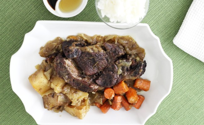 My First Slow Cooker Pot Roast